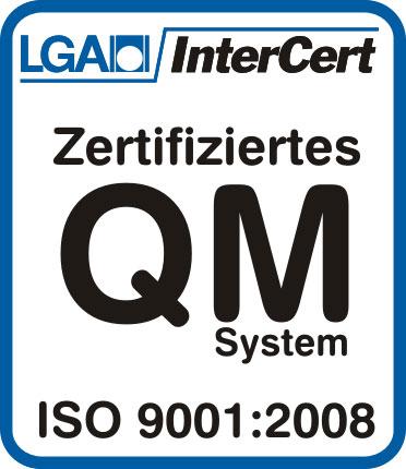 Zertifizierung ISO 9001:2008 – HUNDT Elektrosysteme