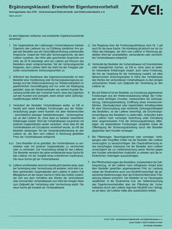 Eigentumsvorbehalt-HUNDT Elektrosysteme